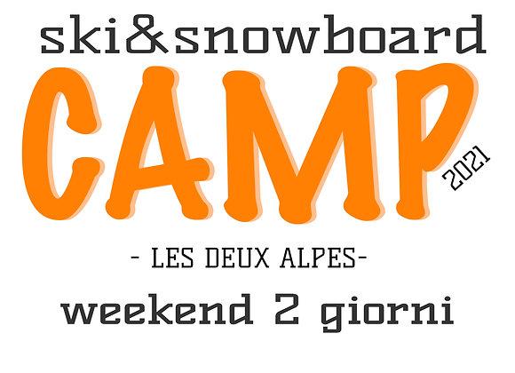 SKI & SNOWBOARD CAMP 2 GIORNI