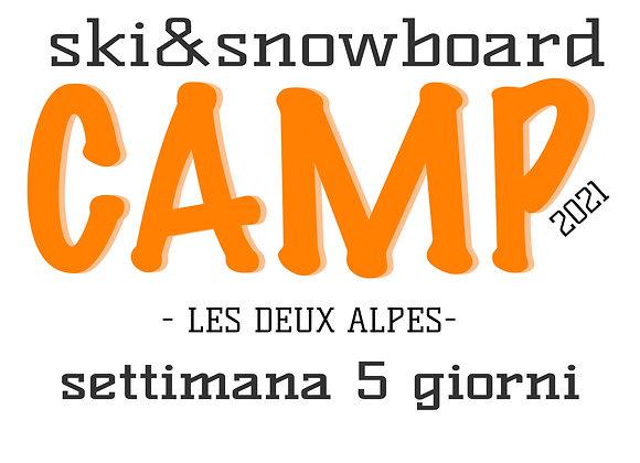 SKI & SNOWBOARD CAMP 5 GIORNI
