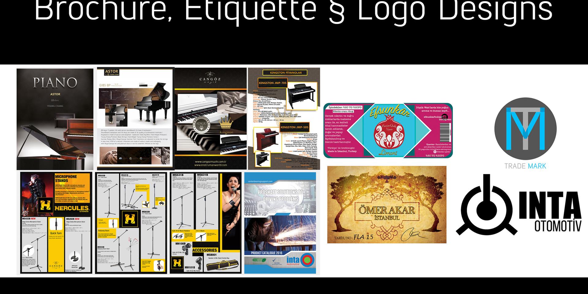 Etiquette, Logo, Brand designs