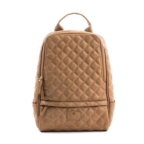Cougar - Tan Vegan Quilted Backpack