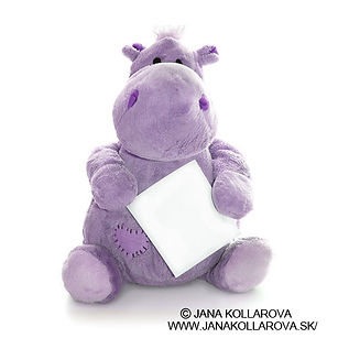 Purple Plush Toy Hippo