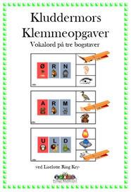 Klemmeopgaver vokalord på tre bogstaver