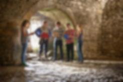 kids in cave