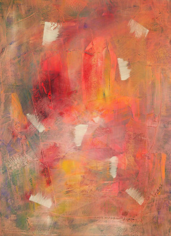 Exploding across the fire like a butterfly in the end of sping, 2018 acrylic on canvas 70 x 50 cm