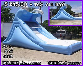 Dolphin Water Slide Party Rentals | Austin TX | Temple Tx    Md Dolphins Water Slide