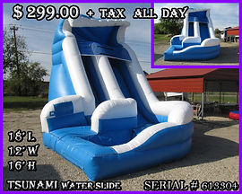 Tsunami Water Slide Party Rentals | Austin TX | Temple Tx   Tsunami Water Slide