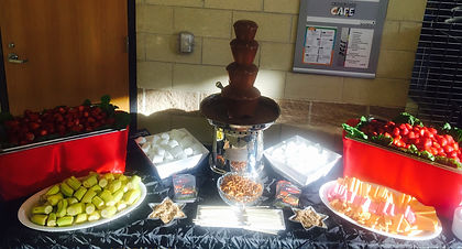 "Chocolate Fountain 31"" High Fruit Table  