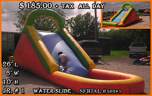 Jr Water Slide Party Rentals | Austin TX | Temple Tx   Jr # 1  Water Slide
