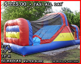 Guardian Water Slide Party Rentals | Austin TX | Temple Tx   Guardin Water Slide