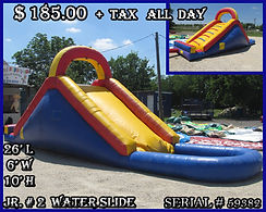 Jr. Party Rentals | Austin TX | Temple Tx   Jr # 2  Water Slide