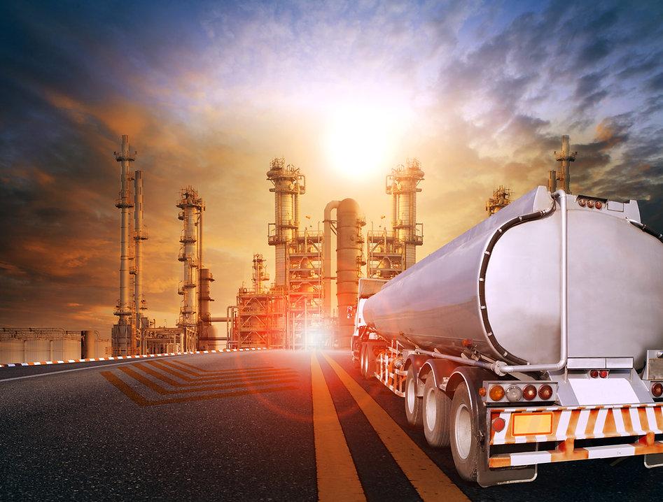 oil tanker truck and petrochemical industry estate.jpg
