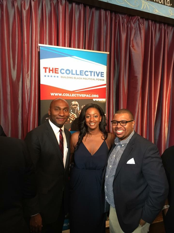 Sen. Lee Harris, joined by Collective PAC Founder Quentin James and TN Young Democrats President London Lamar