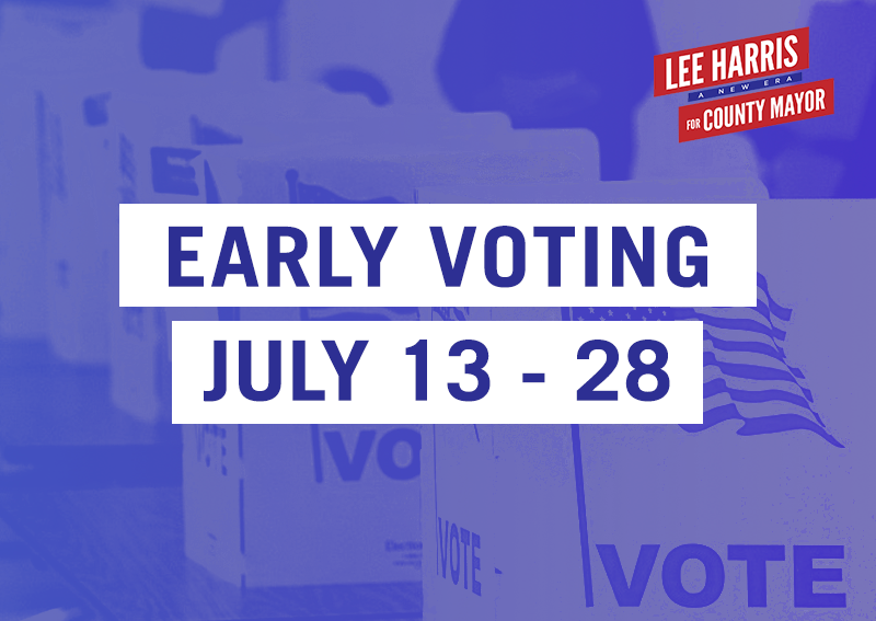 early voting july 13 - 28