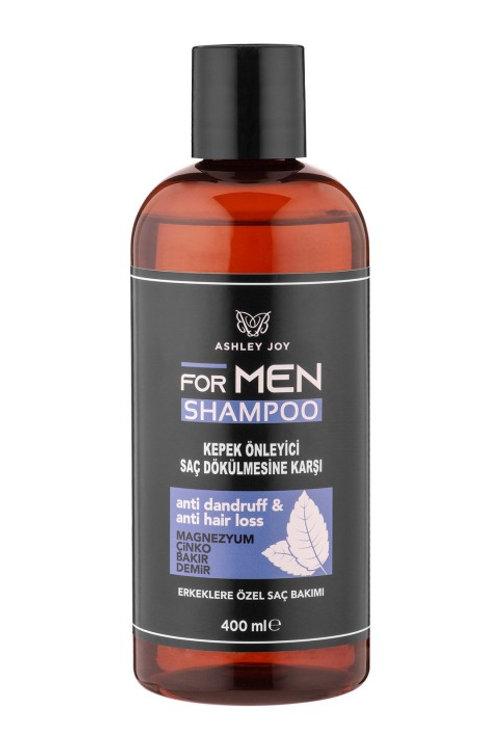 Ashley Joy Erkekler İçin Kepek Önleyici & Saç Dökülmesi Karşıtı Şampuan 400 Ml