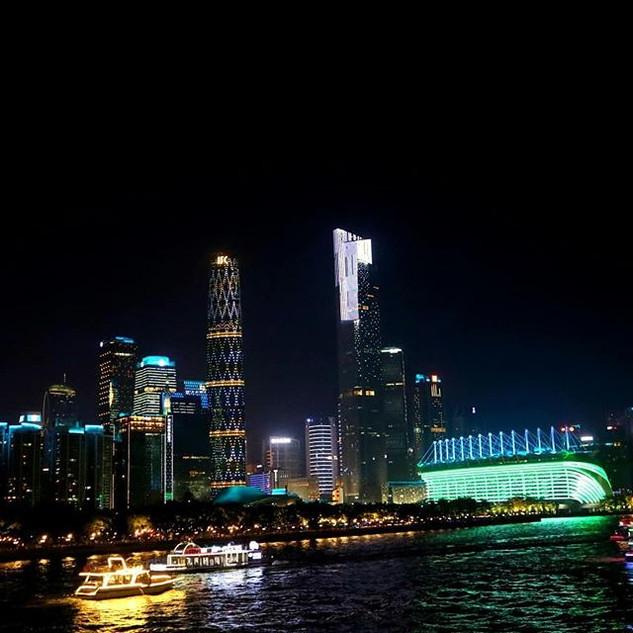 Canton tower & pearl river, Guangzhou..j