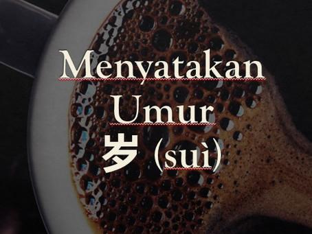Tata Bahasa: Menyatakan Umur dengan 岁 (suì)