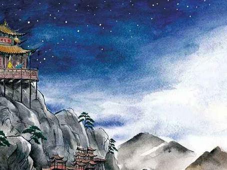Puisi Li Bai: 夜宿山寺 (Bermalam di Biara Gunung)