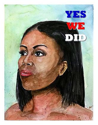 Michele Obama II - YWD Commemorative Print