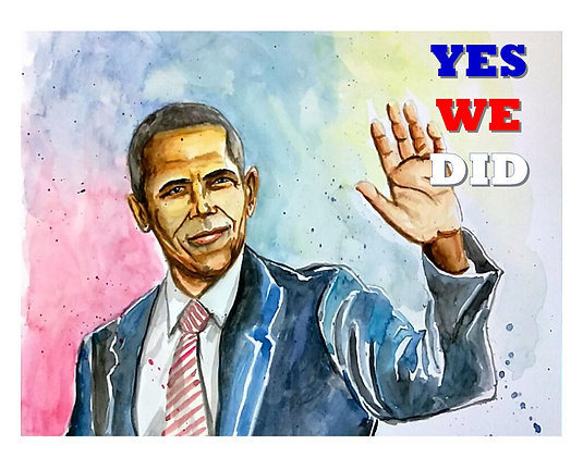 Barack Obama YWD Commemorative Print