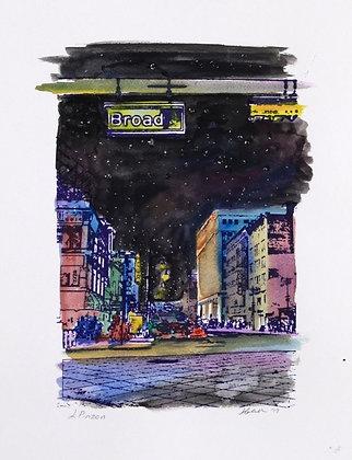 Broad Street at Night