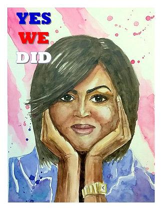 Michele Obama - YWD commemorative print