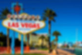 Famous Las Vegas sign on bright sunny da