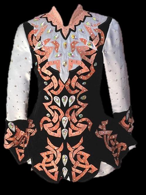 Black & Light Pink Dress (A28)