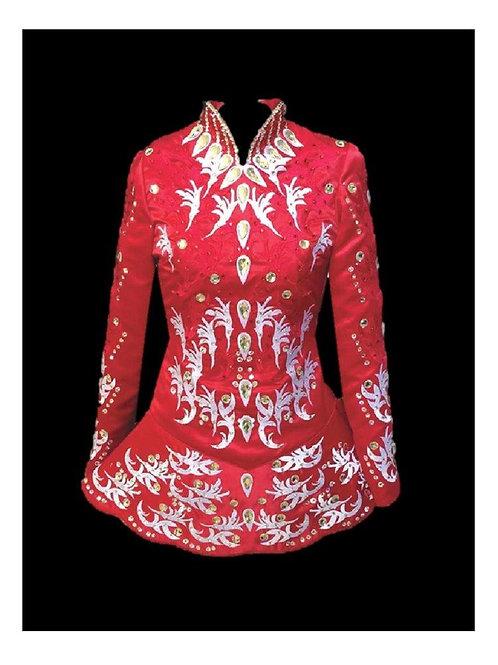 Red and White Irish Dance Dress