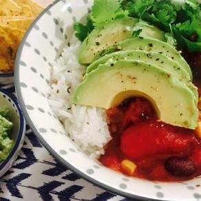 Chili Vegan in een bowl!