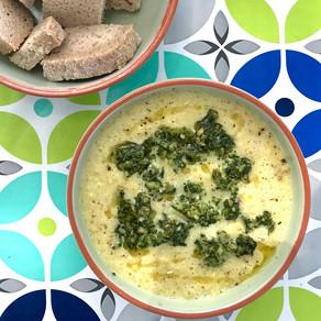 Witte puntpaprika soep