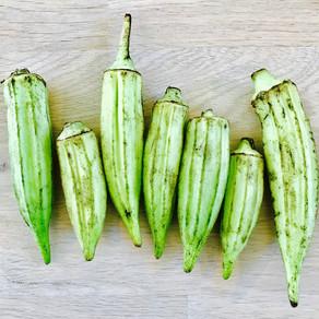 Stoofsaus okra & aubergine