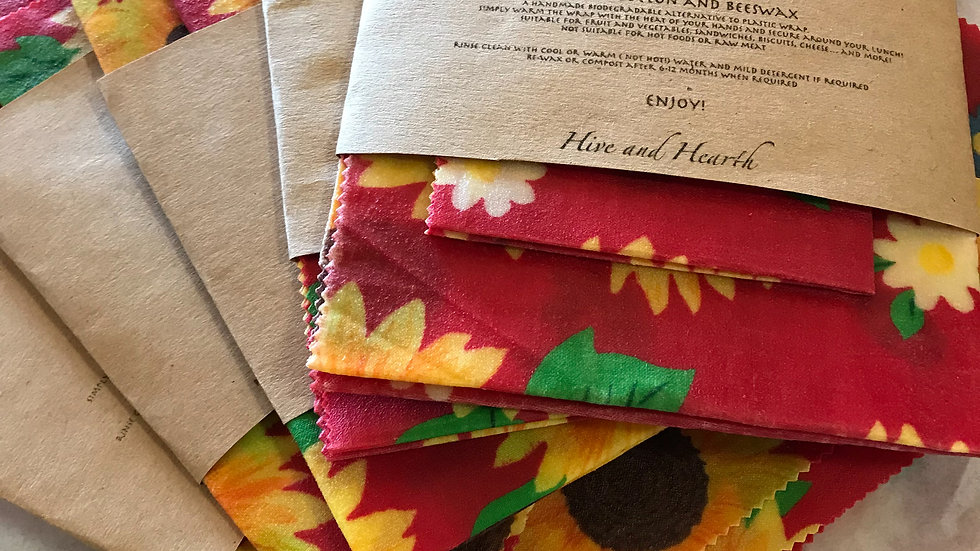 Beeswax wraps 2pack med and large