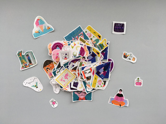 The mountain of stickers
