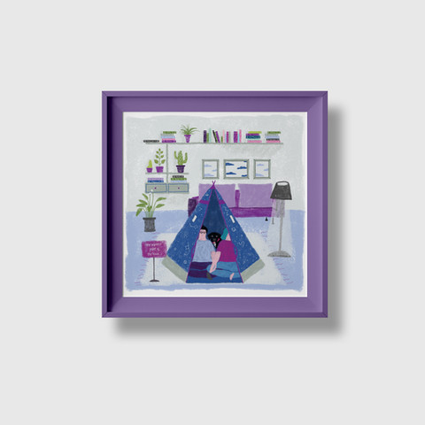 The warmest point of the house art print