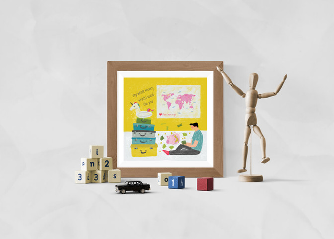 My whole money vs places I want to go art print