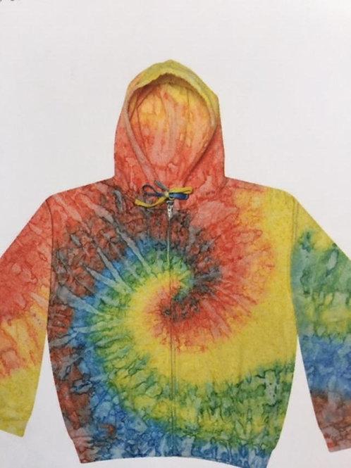 Tye Dye Zip Hoodie
