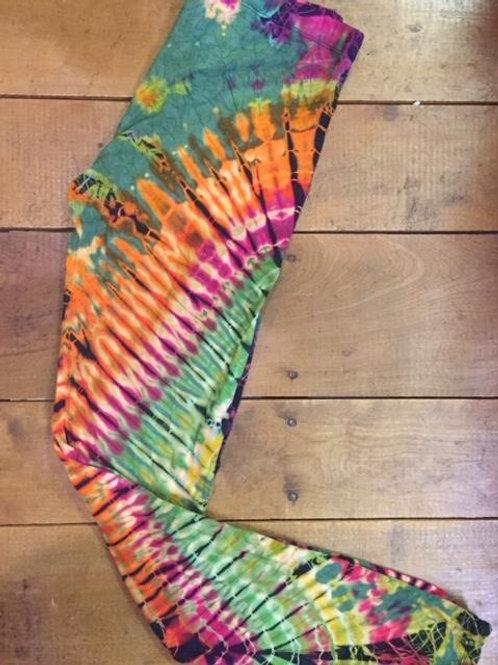 Green Tone Tie Dye Leggings