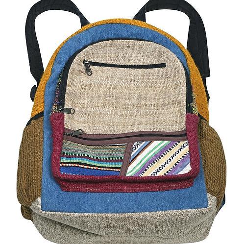 Patchwork Hemp Backpack