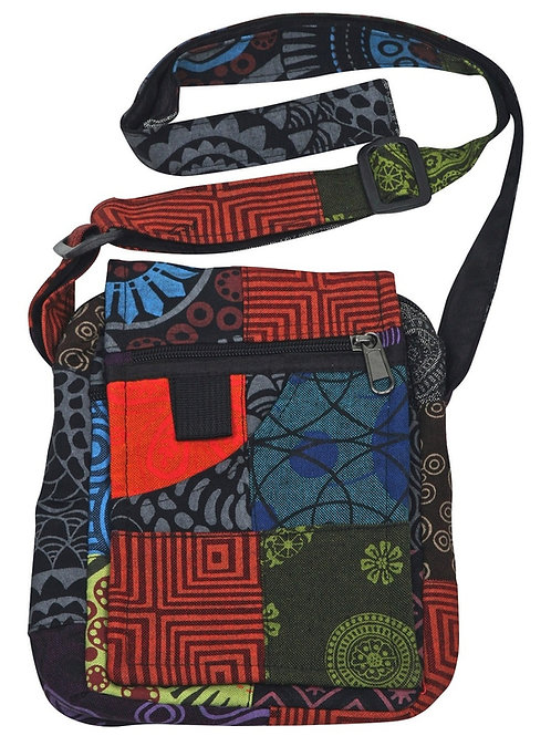 Prague Four Pocket Patchwork Bag