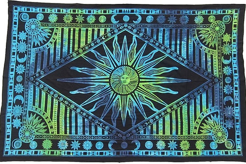 Let the Sun Shine Tapestry-Blue