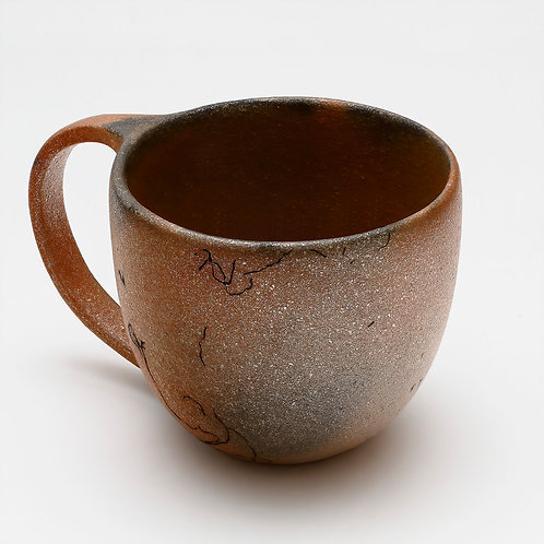micaceous clay cup with handle