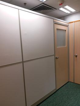 PLYWOOD PANEL WITH DOOR