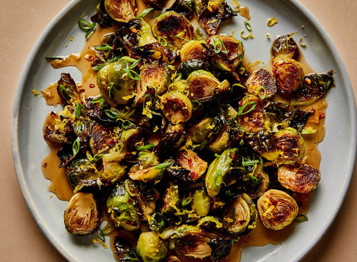 Feed Me Friday: Roasted Brussels Sprouts with Warm Honey Glaze