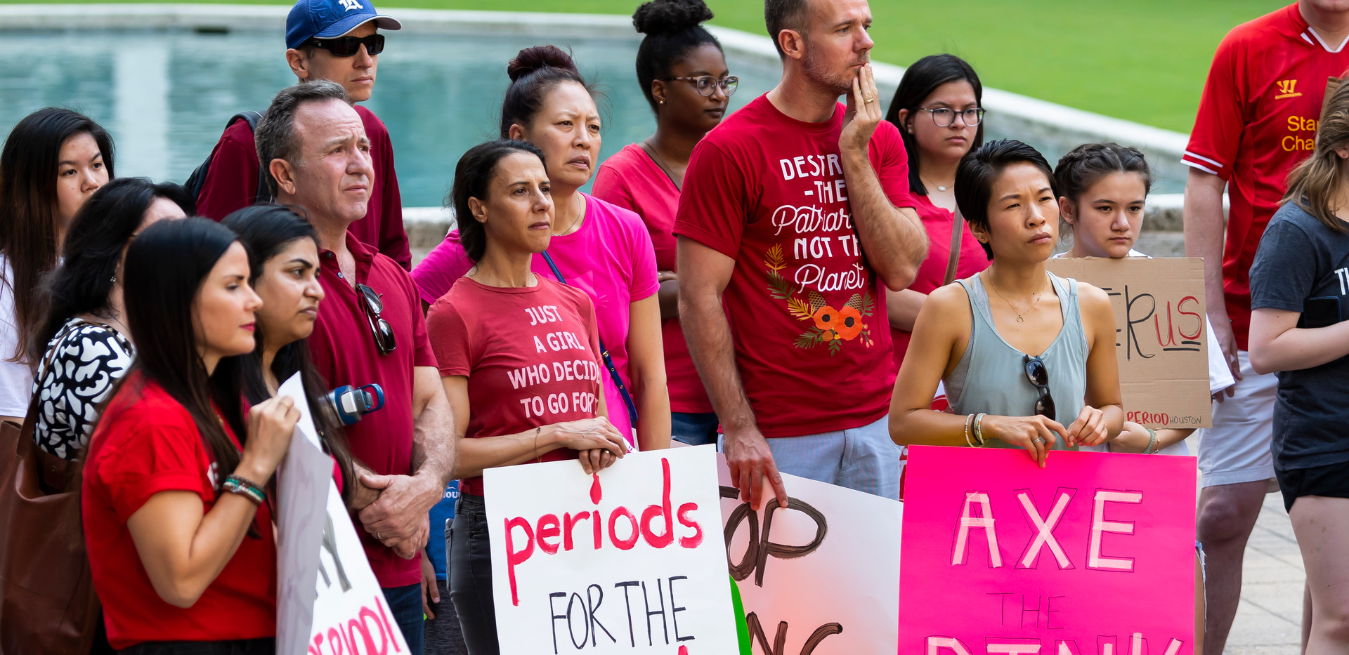 Houstonians Rally Against the 'Tampon Tax'