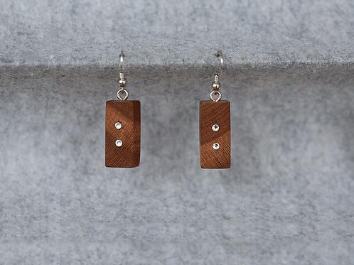 Ohrringe aus Mandelholz
