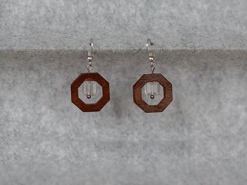 Ohrringe aus Nussbaumholz