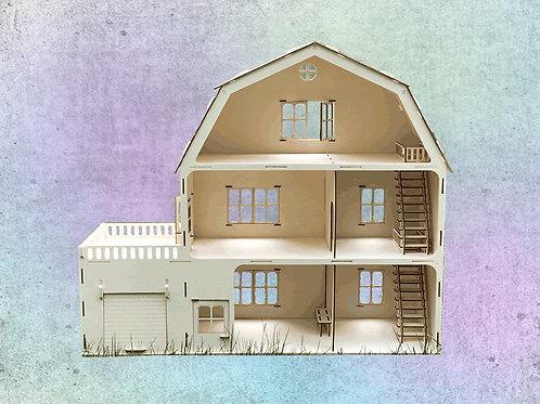 Puppenhaus aus Sperrholz