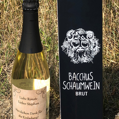 Etikette für Wein- oder Sektflaschen