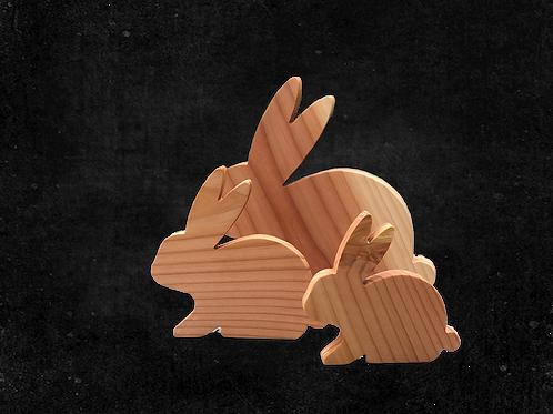 Hase aus Douglasienholz