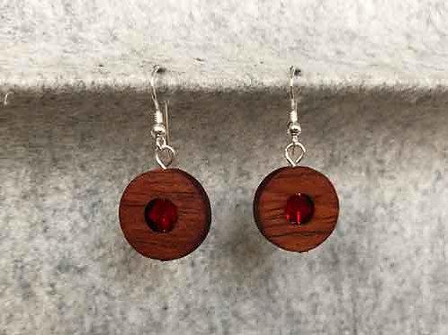 Ohrringe aus Jatoba-Holz